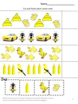 Color Recognition Yellow Special Education Kindergarten Preschool Autism