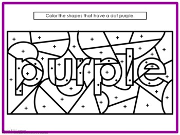 Color My world Activity Packet- PURPLE