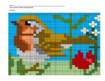 Color Mystery Multiplication SUMMER bird