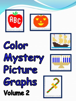 Color Grid Mystery Picture Graphs - Vol. 2