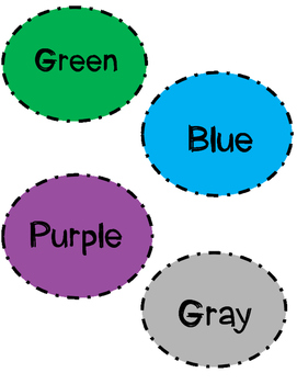 Color Name Labels
