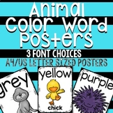 Animal Color Posters