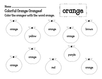 Color Name Word Search