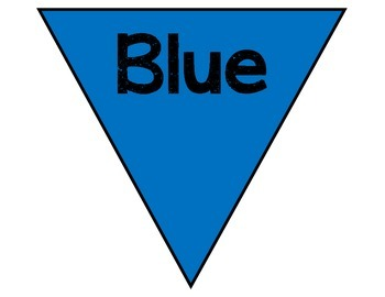 Color Names Pennant: Basic Colors Classroom Decoration
