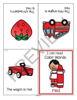 Color Names Foldable Booklets Preschool