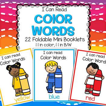 Color Names Foldable Booklets Preschool and Kindergarten