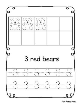 Color Number Bear Book
