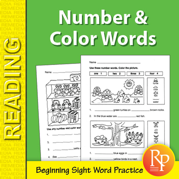 Color & Number Sight Word Activities