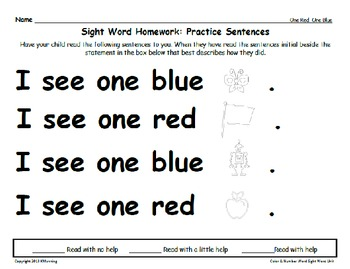Color & Number Sight Word Readers