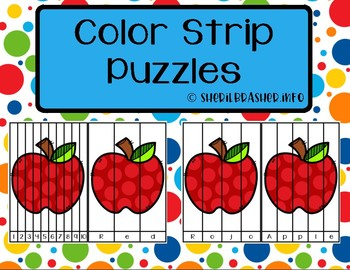 Color Number & Word Fluency Strip Puzzle | 1-10 | English | Spanish