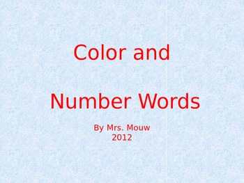 Color & Number Word Powerpoint