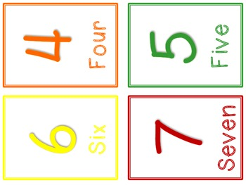 Color & Number Write Around the Room
