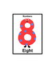 Color Numbers Flash Cards and Poster