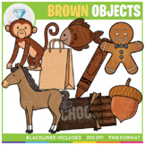 Color Objects: BROWN Clip Art