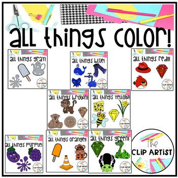 Color Objects Clip Art Bundle