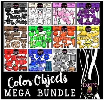 Color Objects Clip Art Mega Bundle