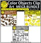 Color Objects Clip Art Mega Bundle English & Spanish DISCOUNTED THIS WEEK!!!
