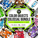 Color Objects Clip Arts COLOSSAL GROWING Bundle