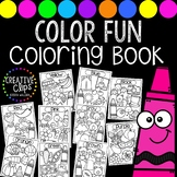Color Objects Coloring Book {Made by Creative Clips Clipart}