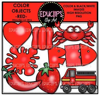 Color Objects - RED - Clip Art Bundle {Educlips Clipart}