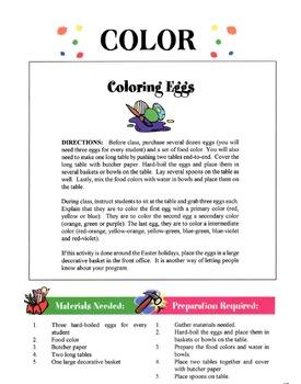Color On A Garment Lesson