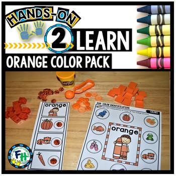 Color Orange Activity Pack for Preschool
