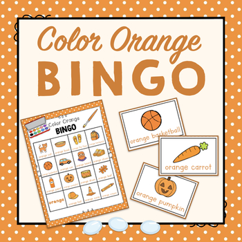 Color Orange Bingo Game