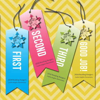Color Origami Certificate Ribbon Award Set - Editable