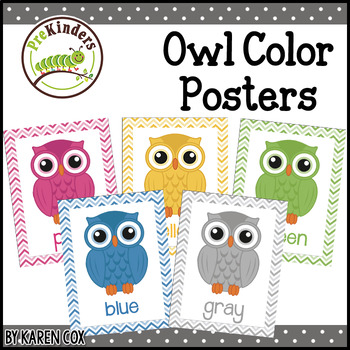 color posters owls