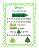 Color Packs - All About Green!