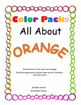 Color Packs - All About Orange!