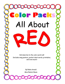 Color Packs - All About Red!