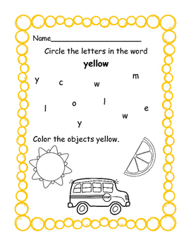 Color Packs - All About Yellow!