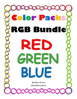 Color Packs - Red, Green, and Blue Bundle