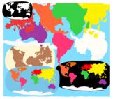 Continents  Montessori Clipart