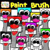 Color Paint Brushes Clip Art {Mrs. Johnson's Alphabet Soup}