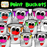Color Paint Bucket Clip Art {Mrs. Johnson's Alphabet Soup}