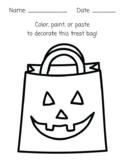 Color, Paint, Paste Halloween Treat Bag Art Activity