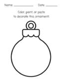 Color, Paint, Paste Ornament Art Activity
