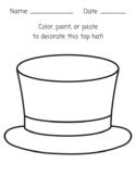Color, Paint, Paste Top Hat Art Activity