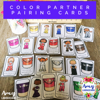 Color Pairing Cards with Engagement Questions