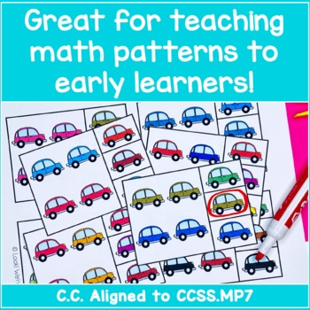 Color Pattern Clip Cards - Colorful Cars