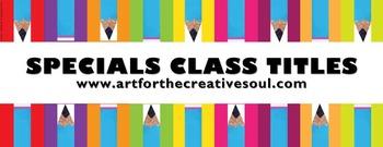 Color Pencil Specials Classes Titles