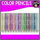 Color Pencils Clip Art Bundle {Educlips Clipart}