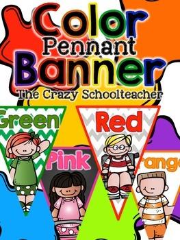 Color Pennant Banner {Kidlettes}