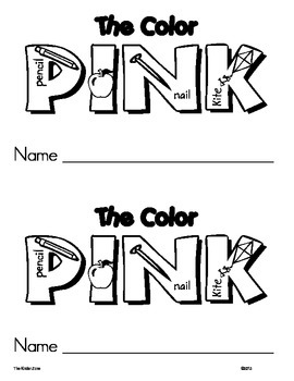 Color Pink Emergent Leveled Reader Book ** Perfect for Rea