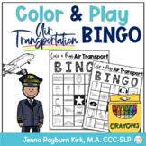 Color & Play: Air Transportation (Airplanes) BINGO