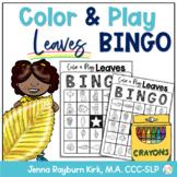 Color & Play: Leaves BINGO