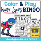 Color & Play: Winter Sports BINGO