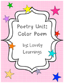 Color Poem Activity and Organizer